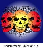 three skulls | Shutterstock .eps vector #336004715
