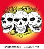 three skulls | Shutterstock .eps vector #336004745