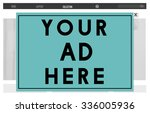 your ad here marketing... | Shutterstock . vector #336005936