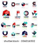 geometric shapes company logo... | Shutterstock .eps vector #336016502