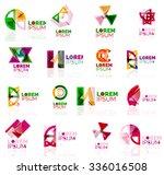 geometric shapes company logo...   Shutterstock .eps vector #336016508