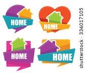 my little home  vector... | Shutterstock .eps vector #336017105