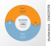 vector infographic. round... | Shutterstock .eps vector #336029558