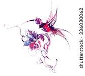 multicolored mechanical... | Shutterstock .eps vector #336030062