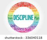 discipline circle stamp word...   Shutterstock .eps vector #336040118