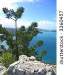 Coastal view (Hamilton island, Queensland, Australia) - stock photo