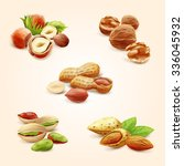 nuts icons | Shutterstock .eps vector #336045932