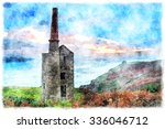 Watercolour Painting Of Wheal...