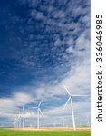 windmills for electric power... | Shutterstock . vector #336046985