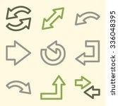 arrows web icons | Shutterstock .eps vector #336048395
