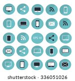 digital devices icon set vector ... | Shutterstock .eps vector #336051026