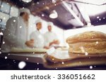 snow against fresh bread with... | Shutterstock . vector #336051662