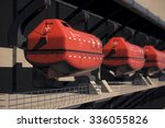 an emergency lifeboats that... | Shutterstock . vector #336055826