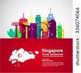 singapore travel idea vector   Shutterstock .eps vector #336074066