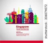 singapore travel new  idea   Shutterstock .eps vector #336074072