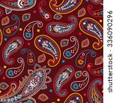 paisley seamless pattern | Shutterstock .eps vector #336090296