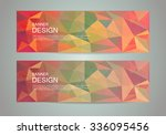 abstract banner with polygonal... | Shutterstock .eps vector #336095456