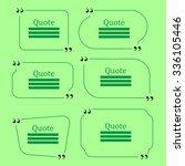 quote bubble. set of speech...   Shutterstock . vector #336105446