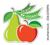 image for vegan events  world... | Shutterstock .eps vector #336105896
