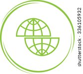 shift globe. internet button.... | Shutterstock .eps vector #336105932