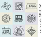 assorted cyber monday insignias ... | Shutterstock .eps vector #336121865