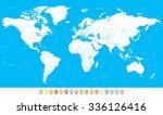 white world map | Shutterstock . vector #336126416