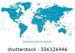world map | Shutterstock . vector #336126446
