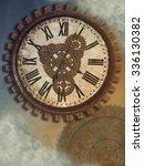 fantasy clockwork in the sky... | Shutterstock . vector #336130382
