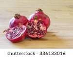 Pomegranate Fruit Opened In...