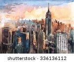 Watercolor Of Manhattan...
