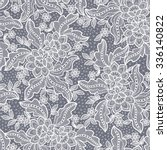 seamless  lace  floral  ... | Shutterstock .eps vector #336140822