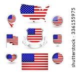 Usa Flag Collection. Vector...