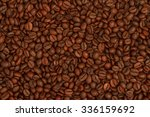 background of roasted coffee... | Shutterstock . vector #336159692