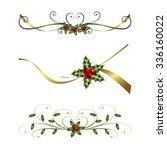 christmas ribbons | Shutterstock .eps vector #336160022