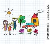 vector image on notebook paper. ... | Shutterstock .eps vector #336162122