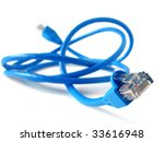 shallow dof blue network cable... | Shutterstock . vector #33616948