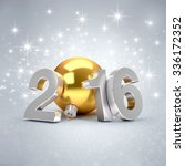 3d new year 2016 concept with a ... | Shutterstock . vector #336172352