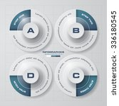 simple editable 4 steps chart... | Shutterstock .eps vector #336180545