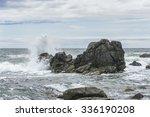 Waves Breaking On The Rocks ....