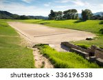 Ancient classic greek olympic stadium at Olympia in Greece