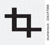 crop icon sign illustration | Shutterstock .eps vector #336197888