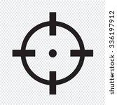 target icon sign illustration | Shutterstock .eps vector #336197912