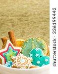 christmas gingerbread cookies... | Shutterstock . vector #336199442
