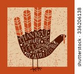 thanksgiving card design with... | Shutterstock .eps vector #336206138