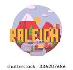 raleigh destination brand logo. ...   Shutterstock .eps vector #336207686