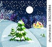 houses  winter landscape  snow  ...   Shutterstock .eps vector #336210866
