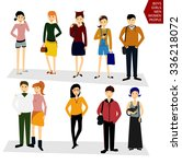young people  students in... | Shutterstock .eps vector #336218072