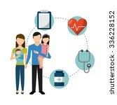 family health care design ... | Shutterstock .eps vector #336228152