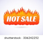 text hot sale of goods at big... | Shutterstock .eps vector #336242252
