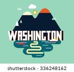 washington  great destination...   Shutterstock .eps vector #336248162